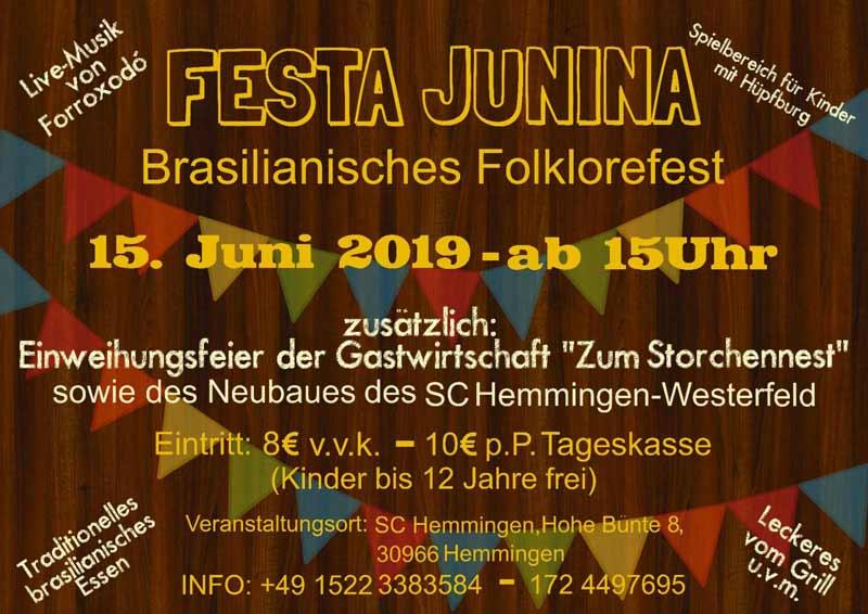 156 Festa Junina Einweihungsfeier Zum Storchennest Zum